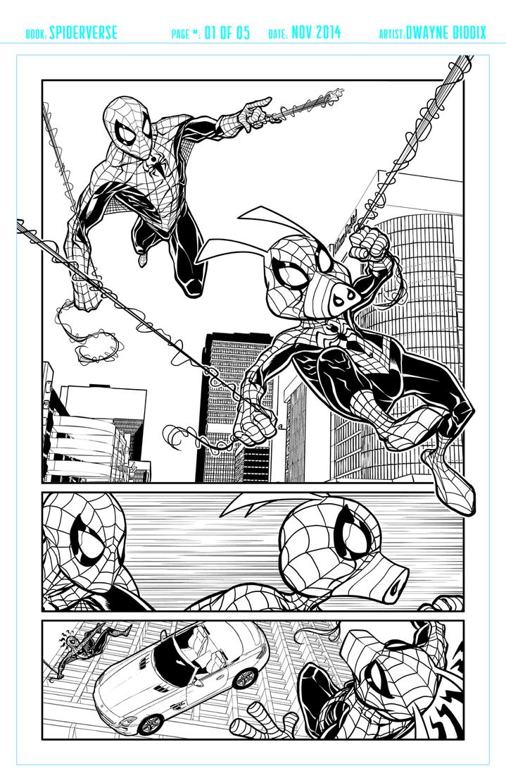 Spiders Pg1 by dwaynebiddixart