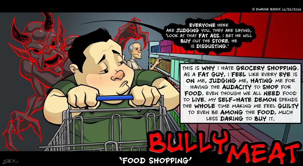 Food Shopping by dwaynebiddixart