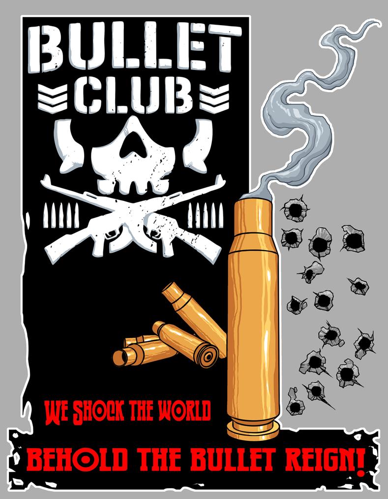 Bullet Club by dwaynebiddixart