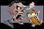 Zombie Ice Cream Art
