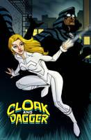 Cloak and Dagger by dwaynebiddixart