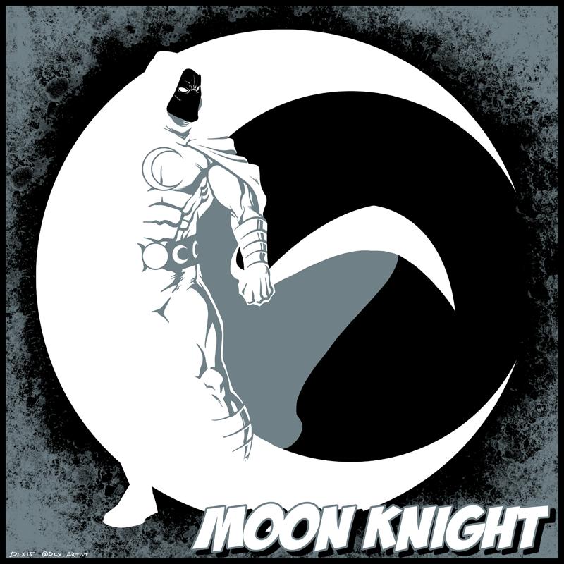 Moon Knight By Dwaynebiddixart On Deviantart