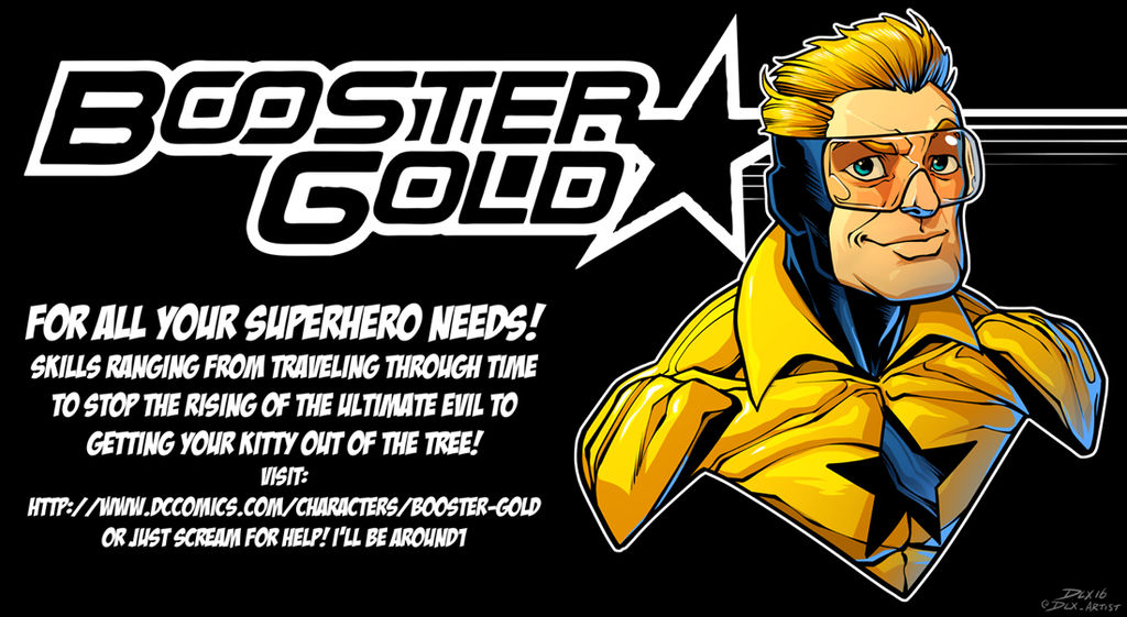 Booster Gold Business Card