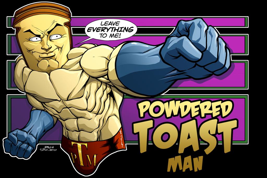 Powdered Toast Man by dwaynebiddixart