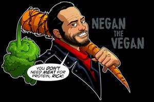 Negan Vegan by dwaynebiddixart