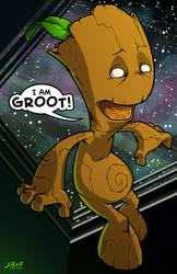 Groot by dwaynebiddixart