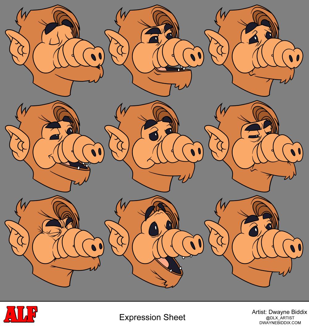 Alf Expressions by dwaynebiddixart