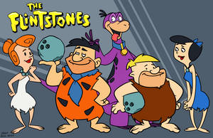 Flintstones by dwaynebiddixart