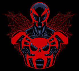 Spiderman2099 by dwaynebiddixart