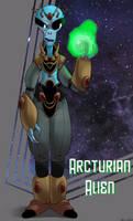 Arcturian alien by dwaynebiddixart