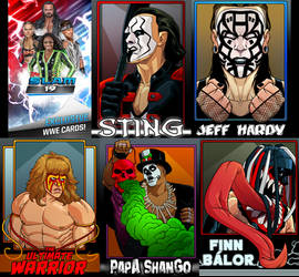 Wwe Slam Cards by dwaynebiddixart