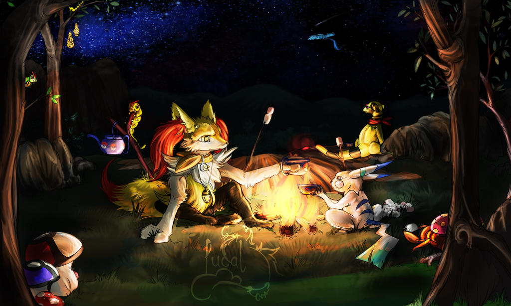 Camping - Commission by Fucal