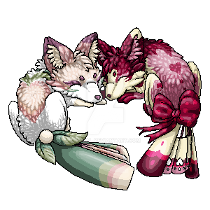 Sleeping Foxfans - Gift by Fucal