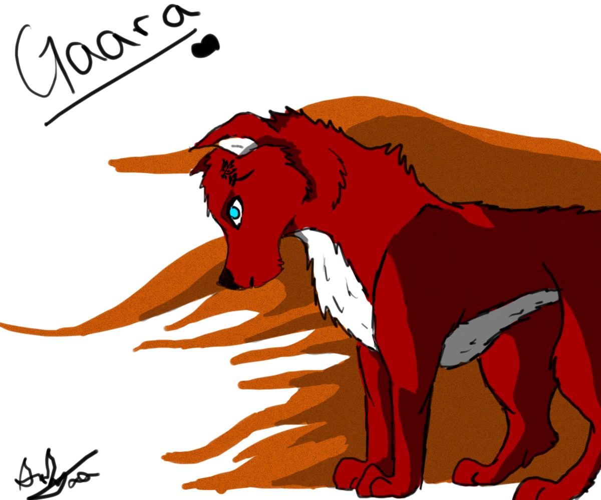 Gaara Wolf by ShardAura on DeviantArt Gaara As A Wolf