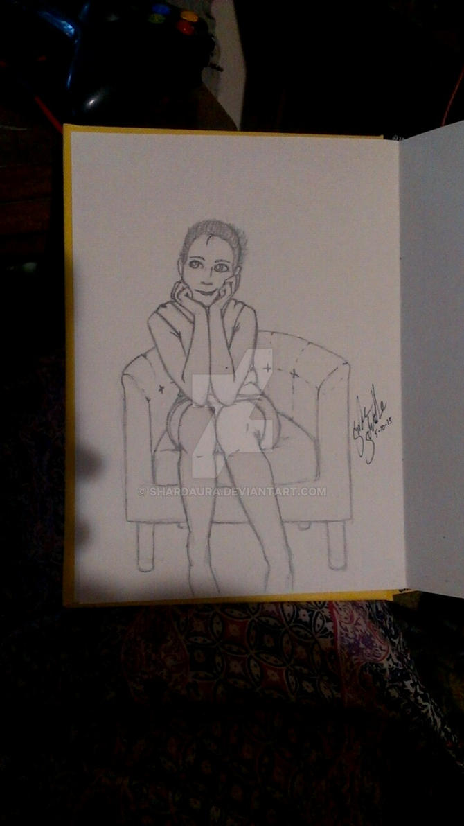 Whatcha thinking about? .:Pencil Sketches:. by ShardAura