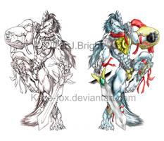 Arius wolf unlimited by kaze-fox