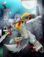 Arius Wolf Decends by kaze-fox