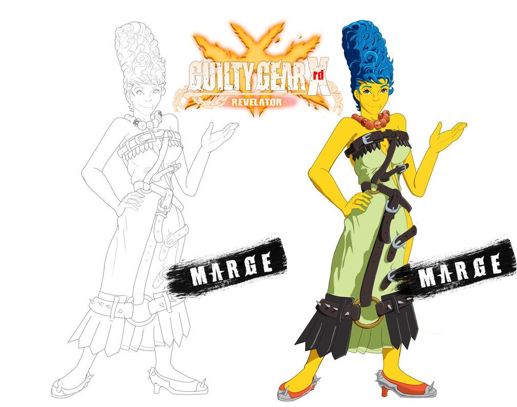 Marge Guilty Gear DLC by kaze-fox