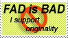 Stupid Fads Stamp by eviloatmeal