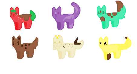 Ice cream flavor cats (adopt) OPEN 5/6 by Emathefirstborn