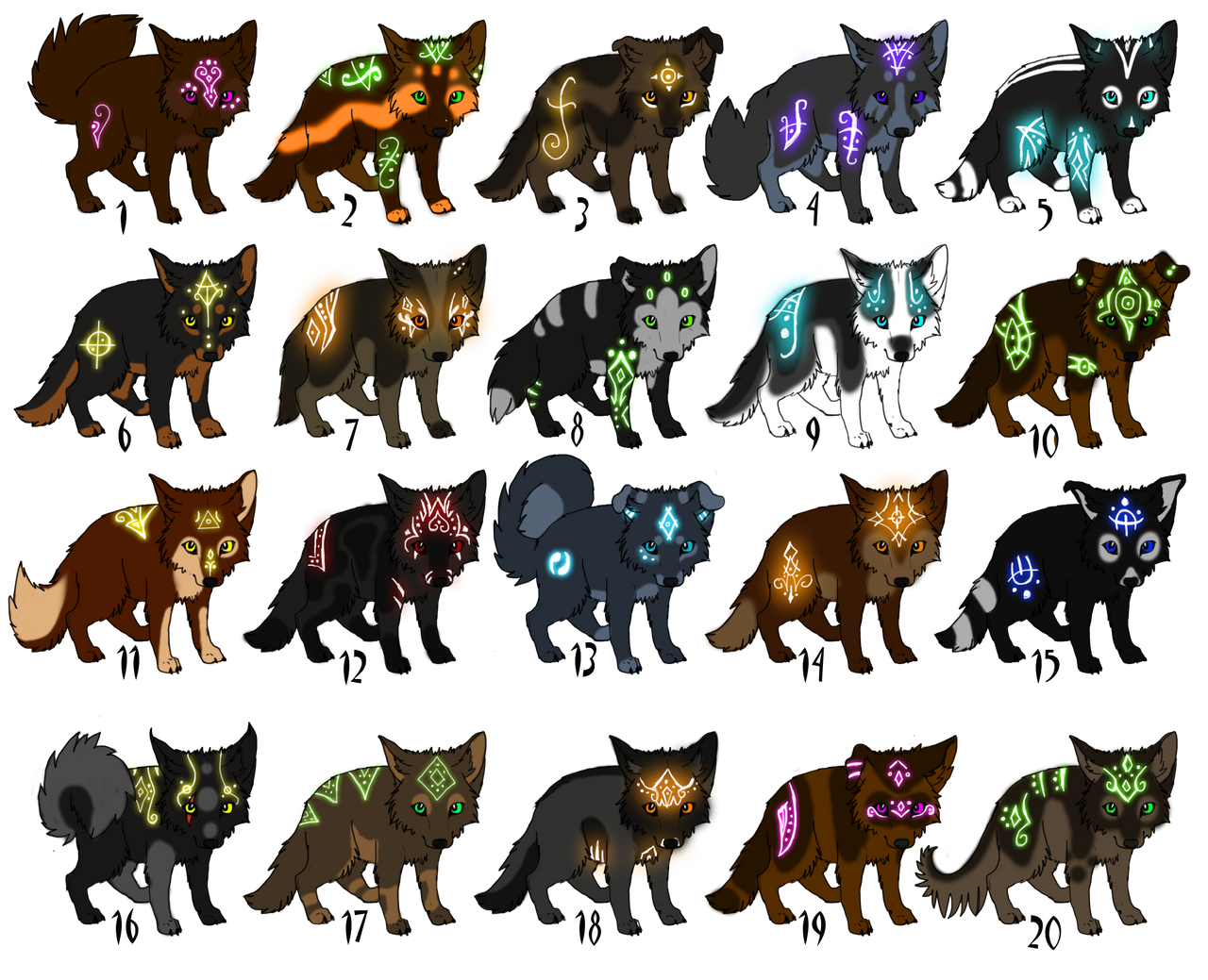 Adoptables Puppies With Glowing Markings CLOSED By TaraviAdopts On DeviantArt