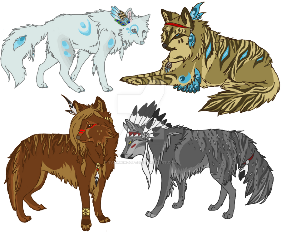 Native American Drawings Of Wolves