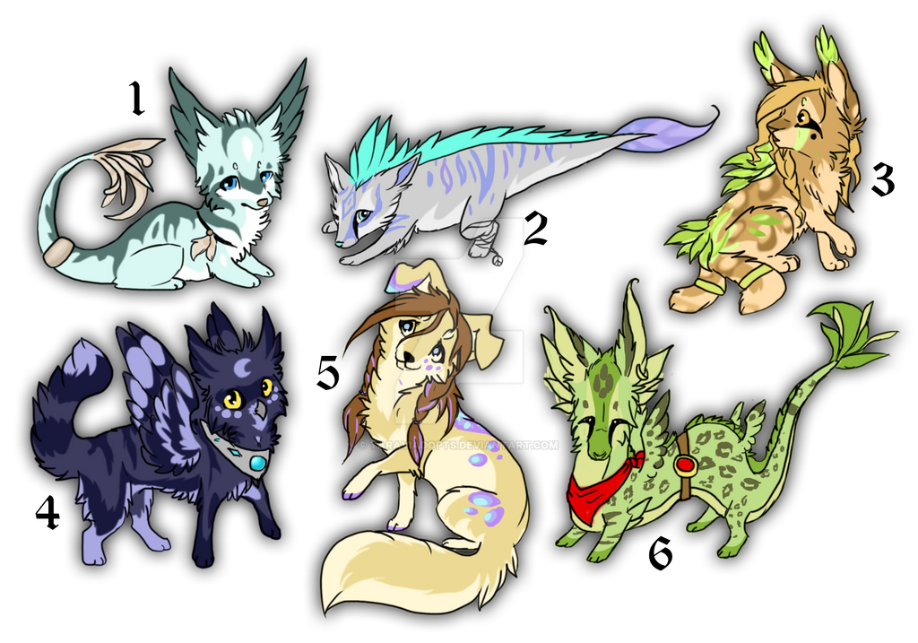 Original characters auction by TaraviAdopts