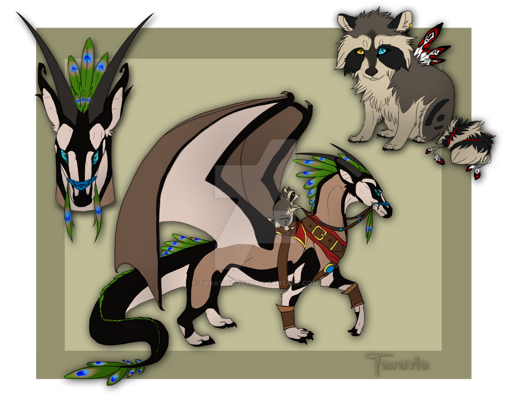Dragon rider raccoon auction CLOSED by TaraviAdopts