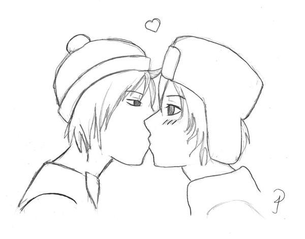 stan x kyle kiss by 0jack on deviantart
