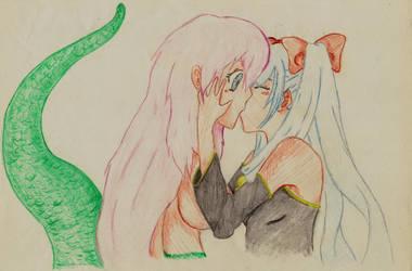 Alaisaa and Miku by LordBloodySoul