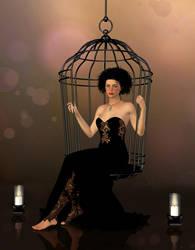 Black dress by LadyNightVamp