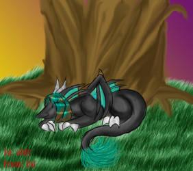 the sleeping aldy dragon by usindila