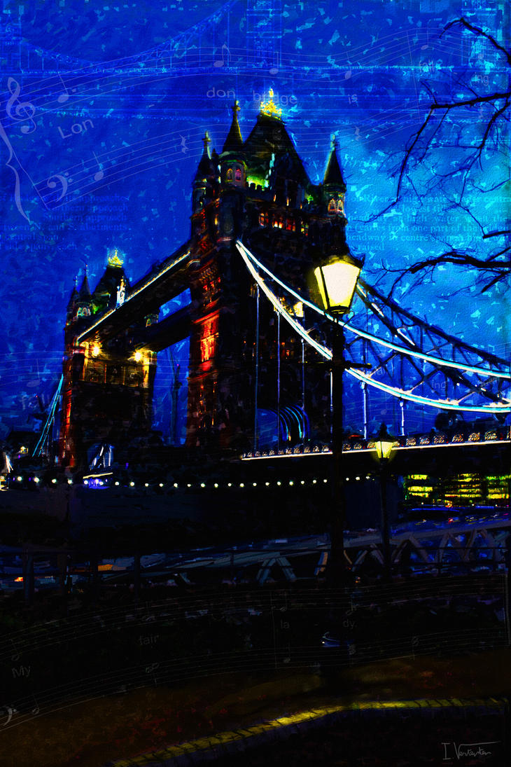 Tower bridge painting by Wolfguardian
