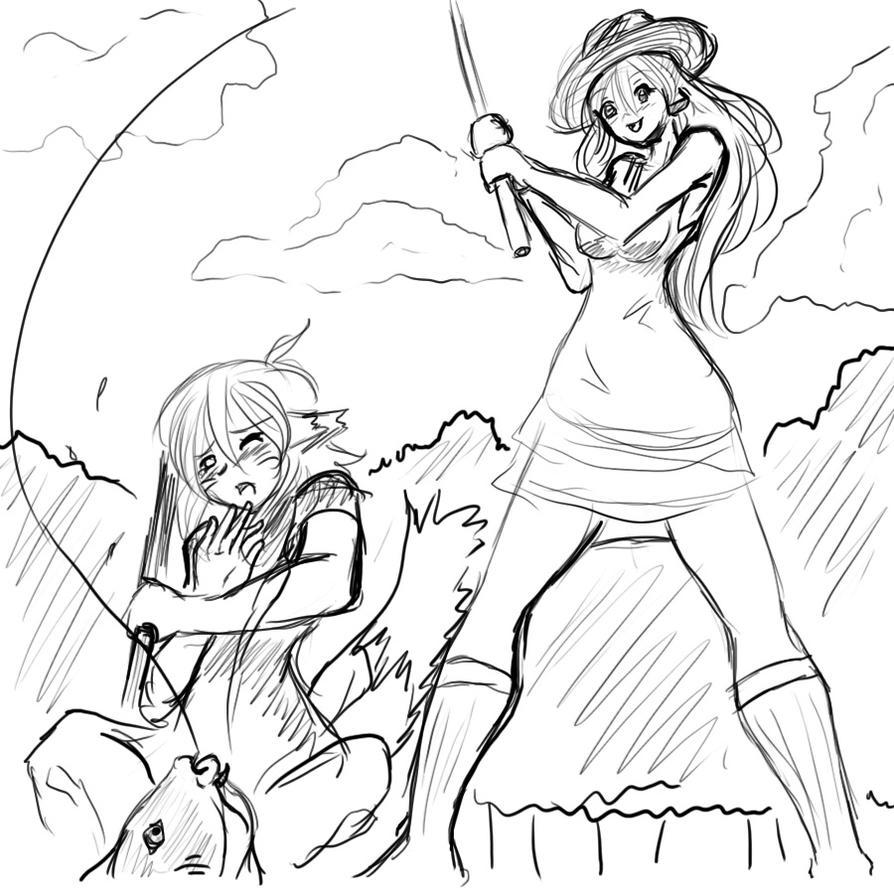 Toyoko And Rieko Fishing by Sageofotherworlds