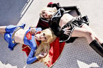 Supergirl and Dark Supergirl