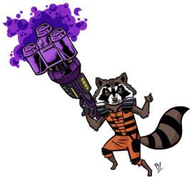 Rocket Raccoon by BeeBoyNYC