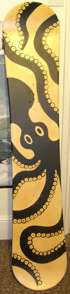 minoan octopus snowboard by Junkan