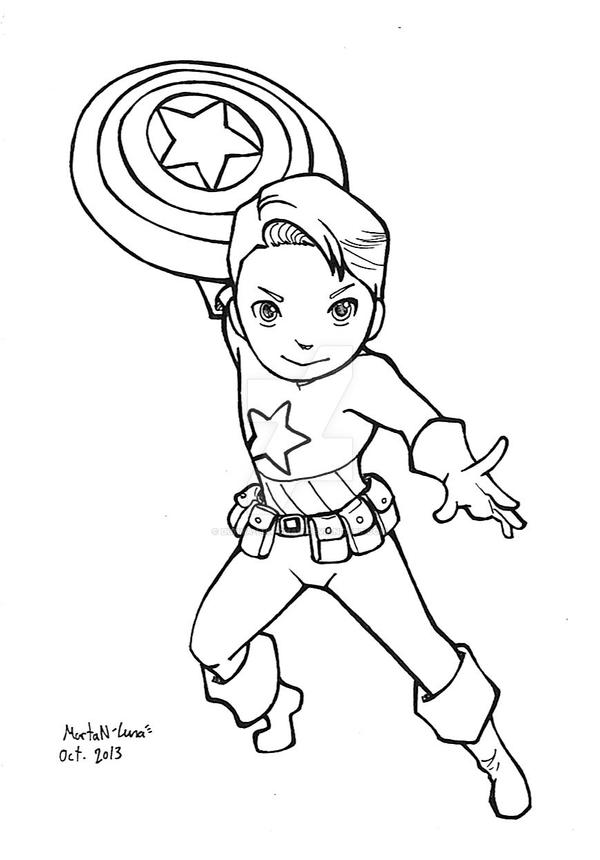 Chibi Captain America 20 By Dunya Lun Chan On DeviantArt