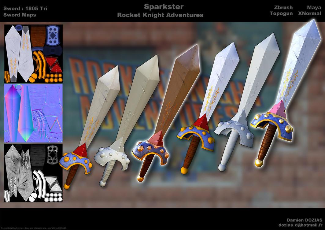 Sparkster 3D Modeling Sword by sterna