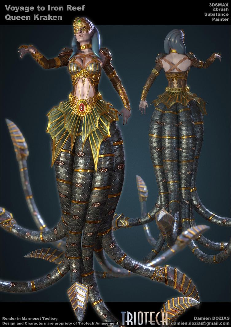 Queen Kraken by sterna