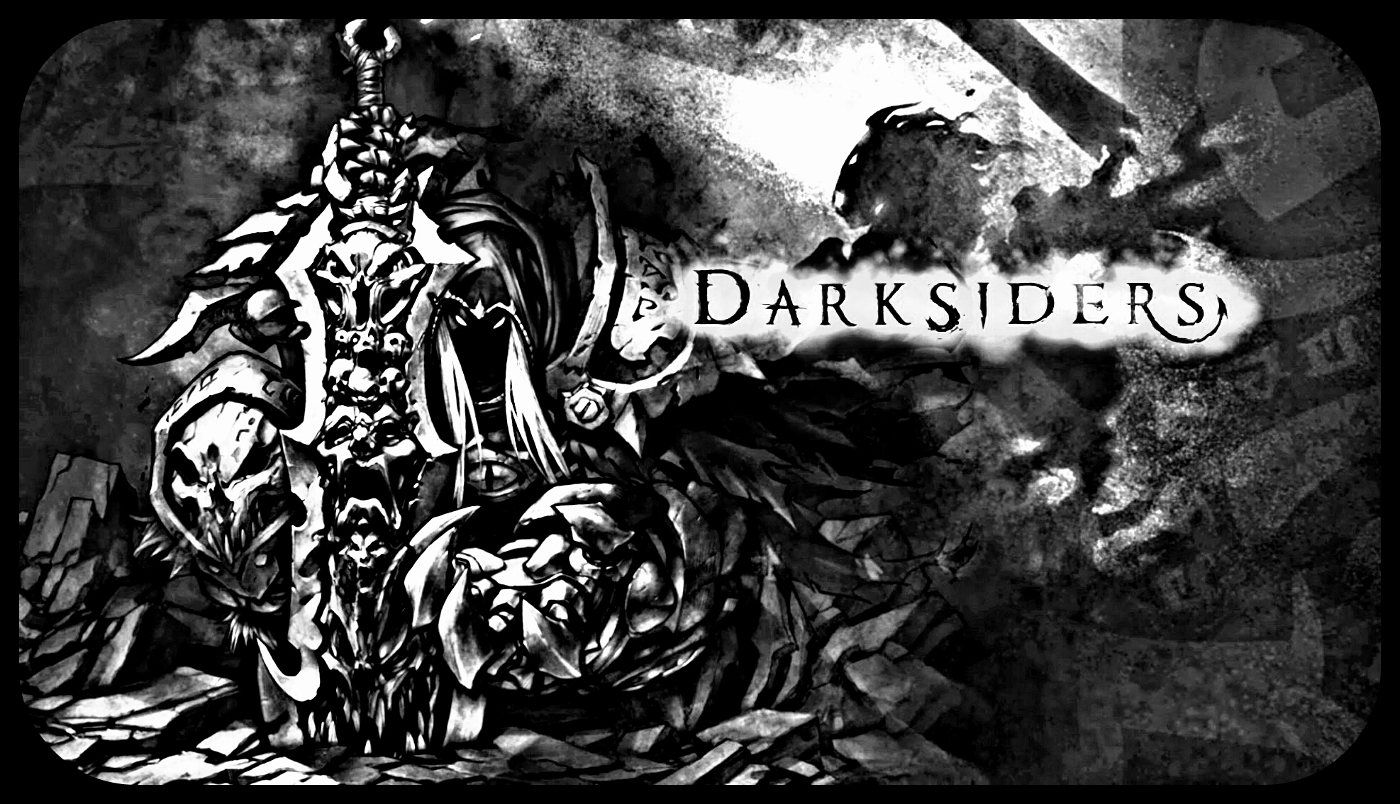 Darksiders War Wallpaper By: Darksiders Cover War Black And White By Schloemixi On