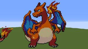 [Minecraft] Charizard Pixel Art