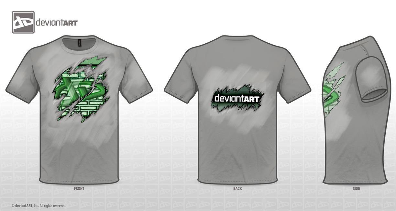 Shirt rip design - Deviant T Shirt Ripped Logo By Kushina Uzumaki Ii