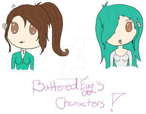 Chibis for ButteredEggs - Commission