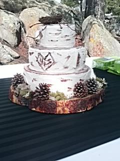 Birch Wedding Cake by unshelvedgeek