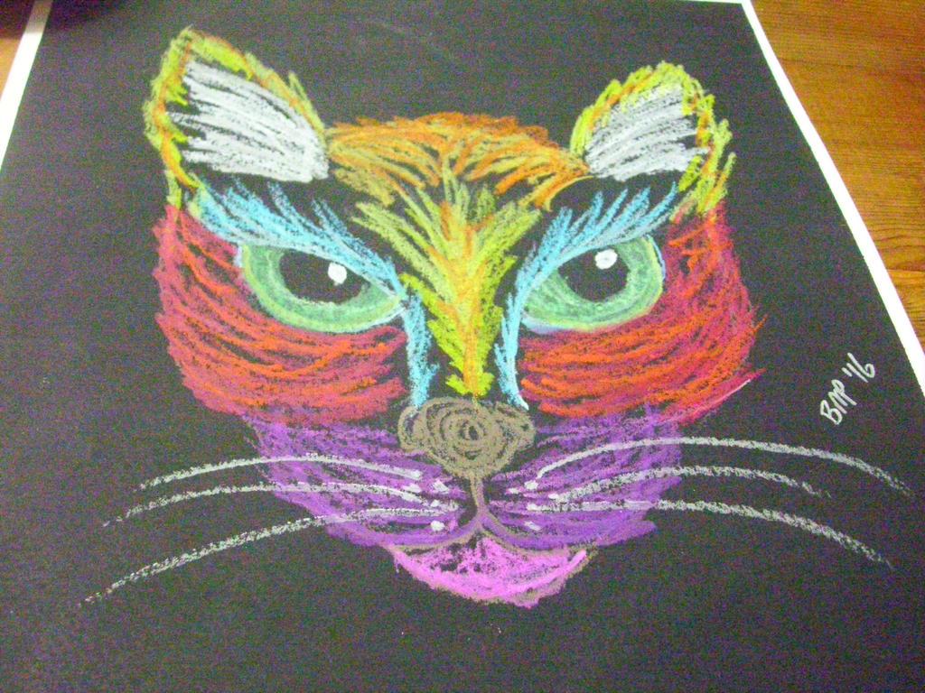 Rainbow Cat by unshelvedgeek