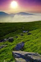 Snowdonia sunset by darkishtar