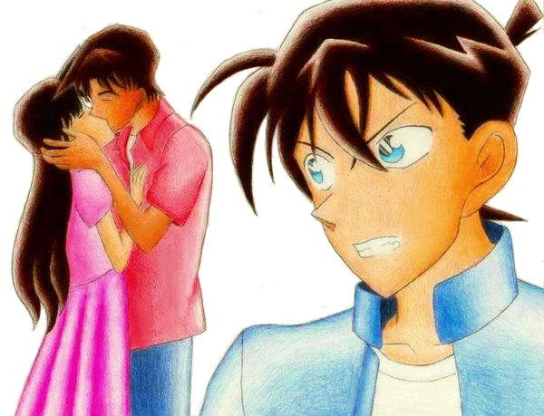 Ran and Heiji Kissing? Shinichi Jealous? by ajkun