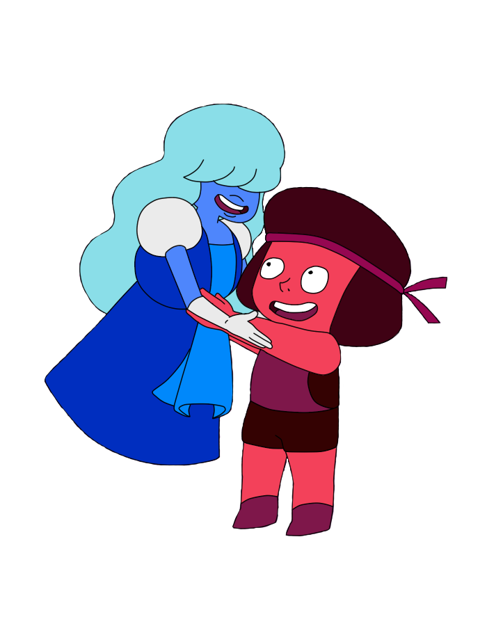 Ruby And Sapphire by do-he-got-the-booty