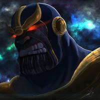 Marvel Villain Art Jam: Thanos by bustercloud